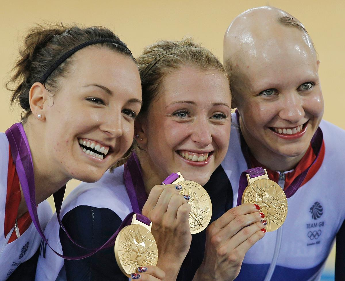 Rowsell-Shand (right) won a gold medal in the Team Pursuit at the London 2012 Olympic Games / Press Association