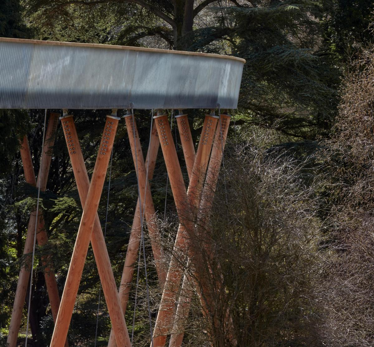 Materials have been chosen to complement the surroundings, such as timber legs that will age over time / Rob Parrish