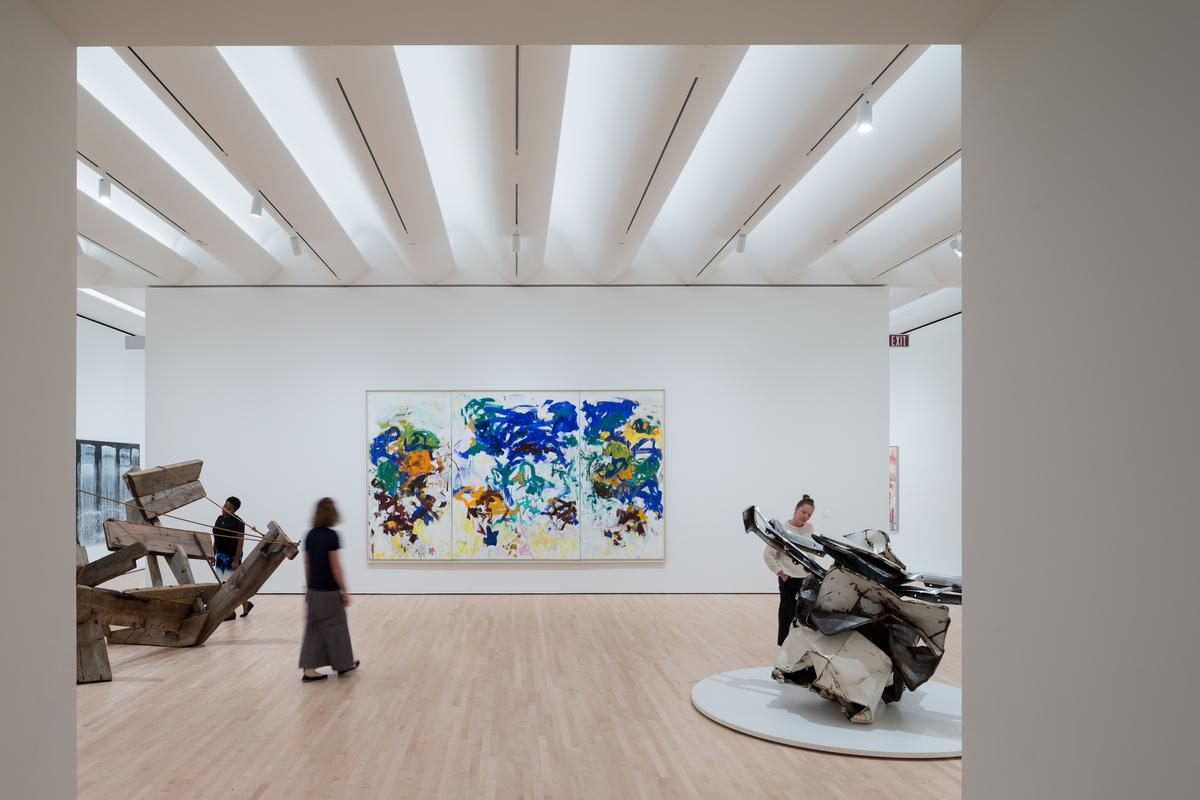 The extension has tripled the exhibition space, allowing for more of SFMOMA's vast collection of art, sculpture and photography to be put on display / SFMOMA