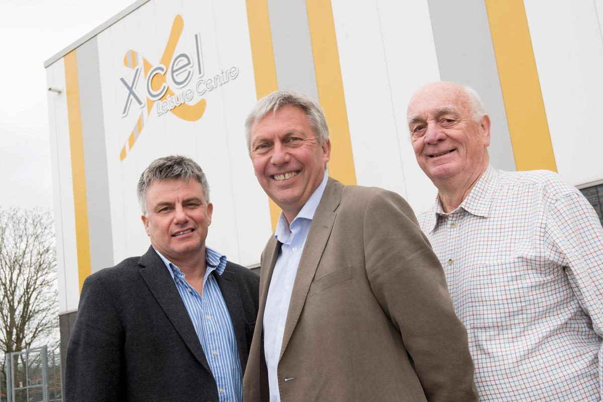 David Moorcroft (centre) will oversee new projects and developments for the charity