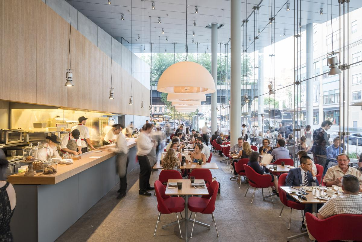 Renzo Piano Building Workshop were joint winners for Untitled, the restaurant at New York's Whitney Museum, which was created in collaboration with Cooper Robertson and Bentel & Bentel / Photo: Tim Schenck