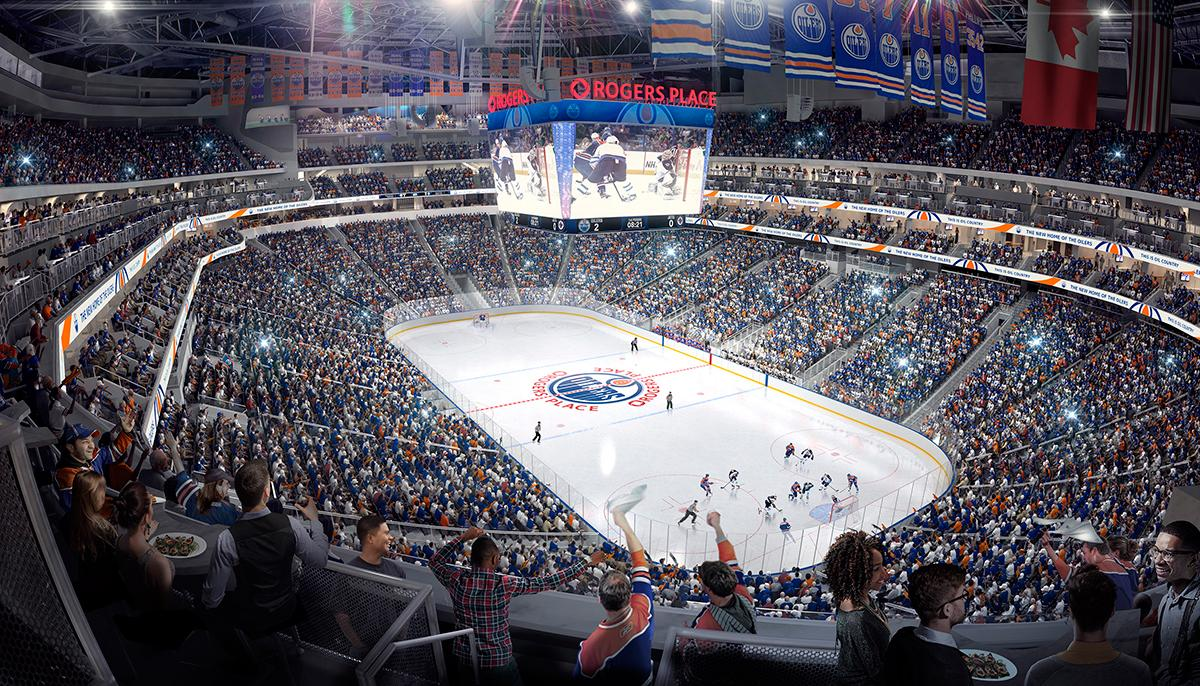 The venue will be the new home of the Edmonton Oilers hockey franchise / Rogers Place