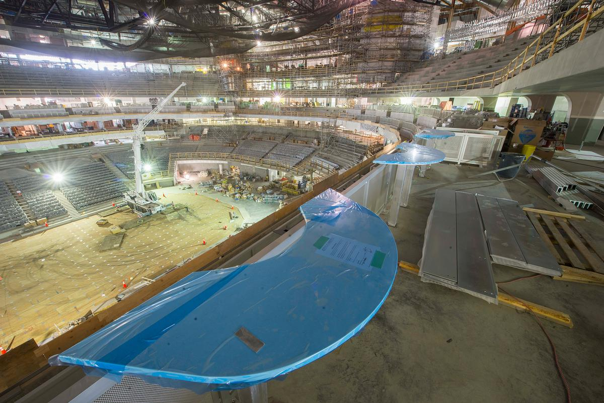 The bowls, ice slab foundation and concourses have all been installed / Rogers Place