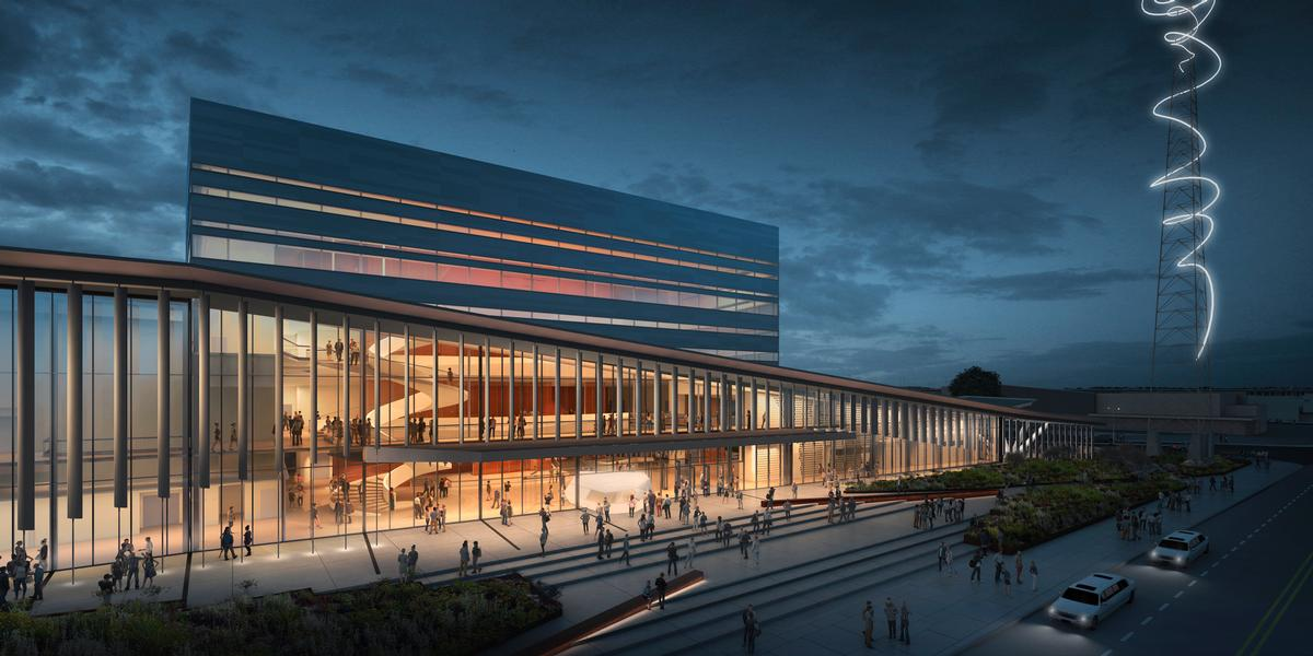 The multi-purpose centre will be a new home for rock concerts, operas, ballets and touring Broadway shows, as well as large-scale social and community events / Diamond Scmitt