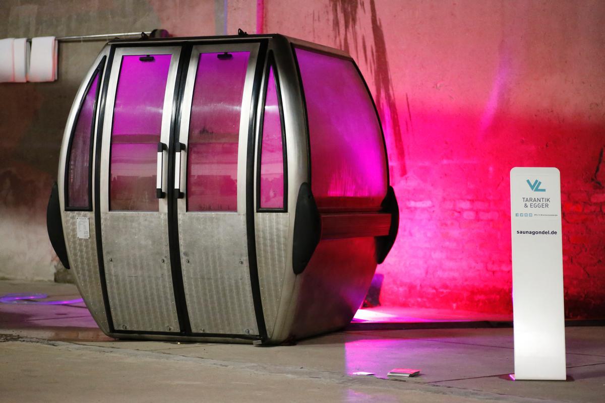The Saunagondel was officially unveiled at Milan Design week in April / Saunagondel
