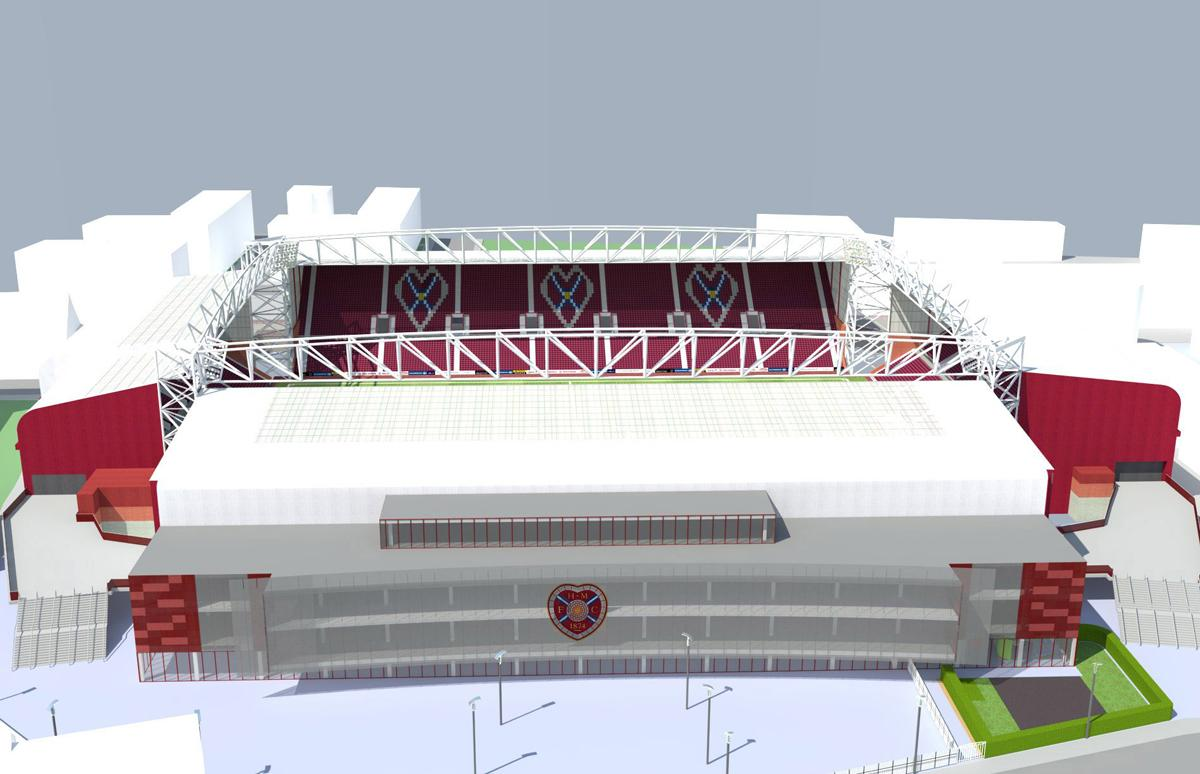 An artist's impression of Tynecastle following the redevelopment work