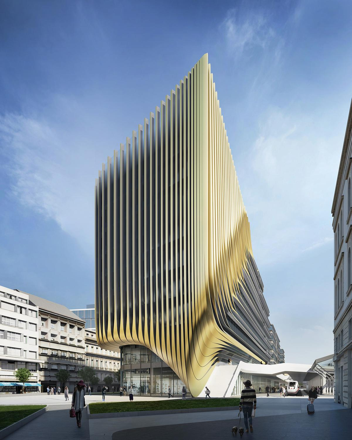 The striking new exterior designed for Masaryk