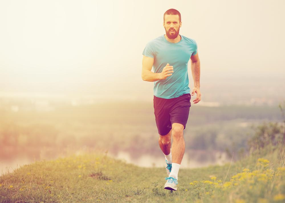 Running outside instead of on a treadmill has  the added benefits of fresh air, vitamin D and  interaction with beneficial plant substances / shutterstock