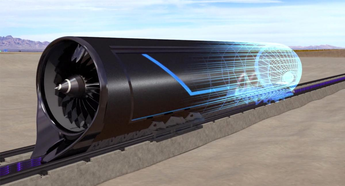 Hyperloop One's vision of how one of their capsules might look like / Hyperloop One