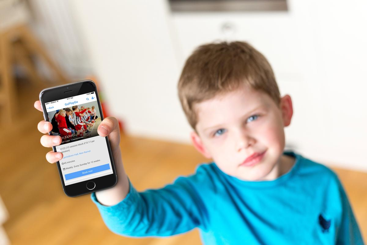 The app is designed to book activities for children within two minutes / Goplaygo