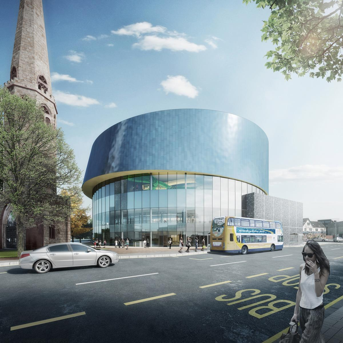 Studio partner Michael Hall said the central location and striking design have been chosen to persuade more local people to use the facilities and improve their health and wellbeing / FaulknerBrowns