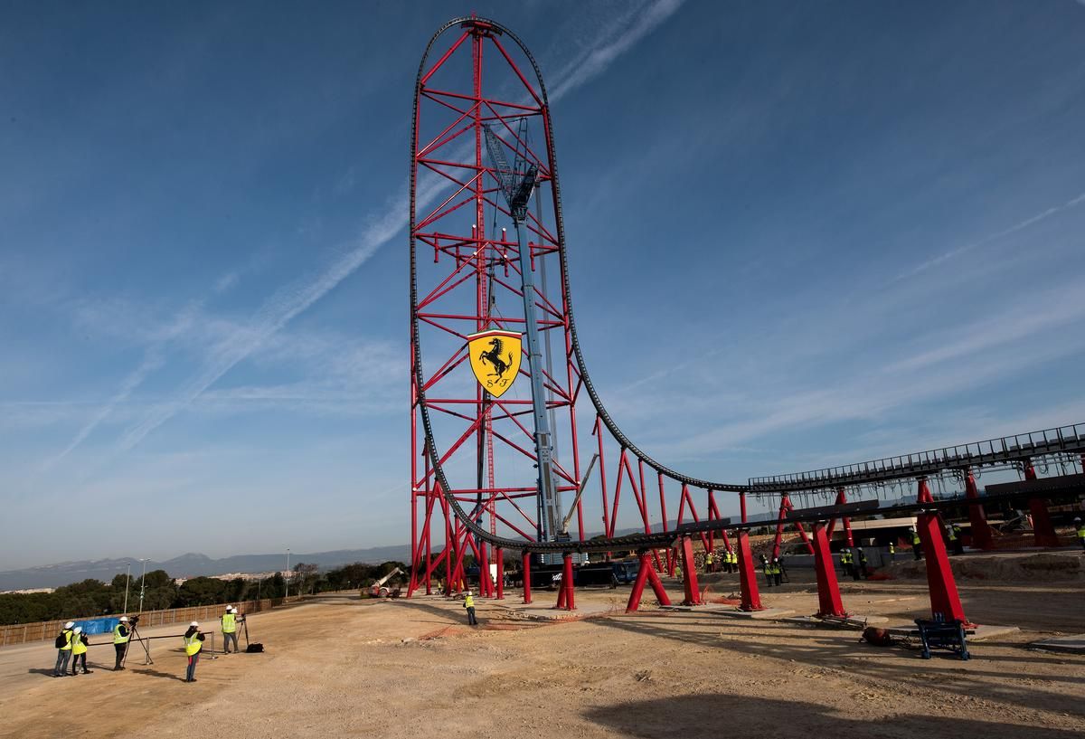 Ferrari Land Hits Halfway Point As Portaventura Gears Up For 2017 Opening Architecture And Design News Cladglobal Com