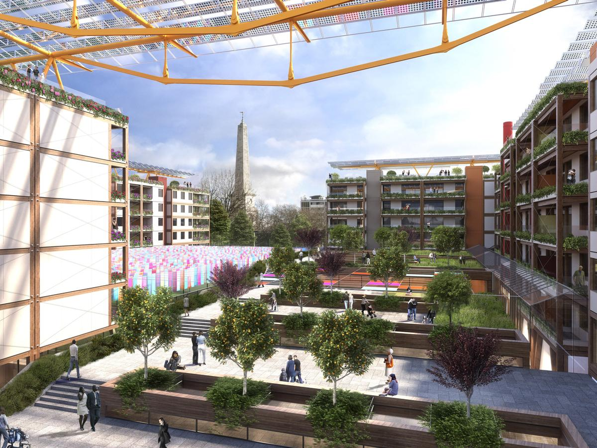 The designs all incorporate new public space into the project / Islington Council