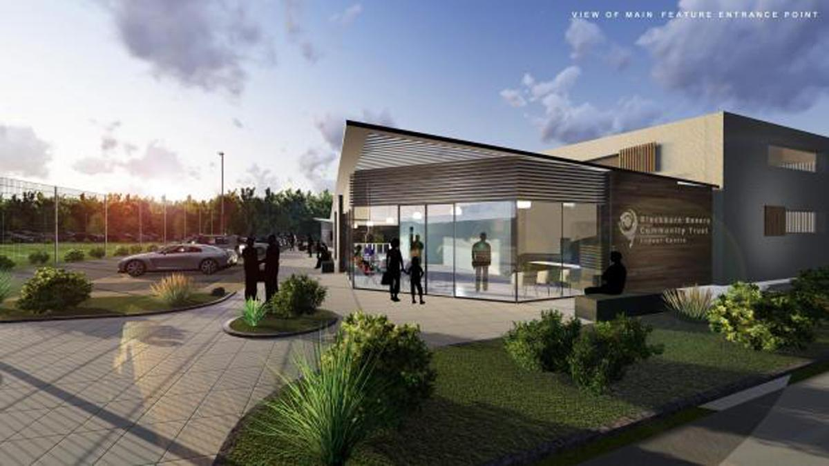 An artist's impression of the front of the redeveloped community centre