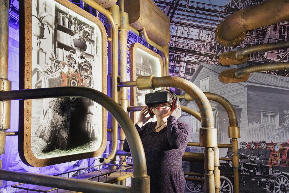 "One of the museum's key exhibits will be <i>Time Machine</i>, a virtual reality space sending visitors ""back in time"" to a realistic version of Helsinki in the past / Helsinki City Museum"