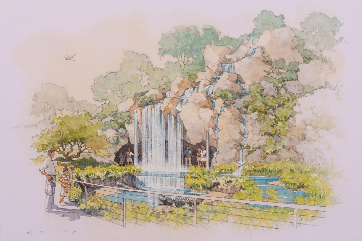 One of the exhibition's key focal points will be the Rady Madagascar Habitat and Falls