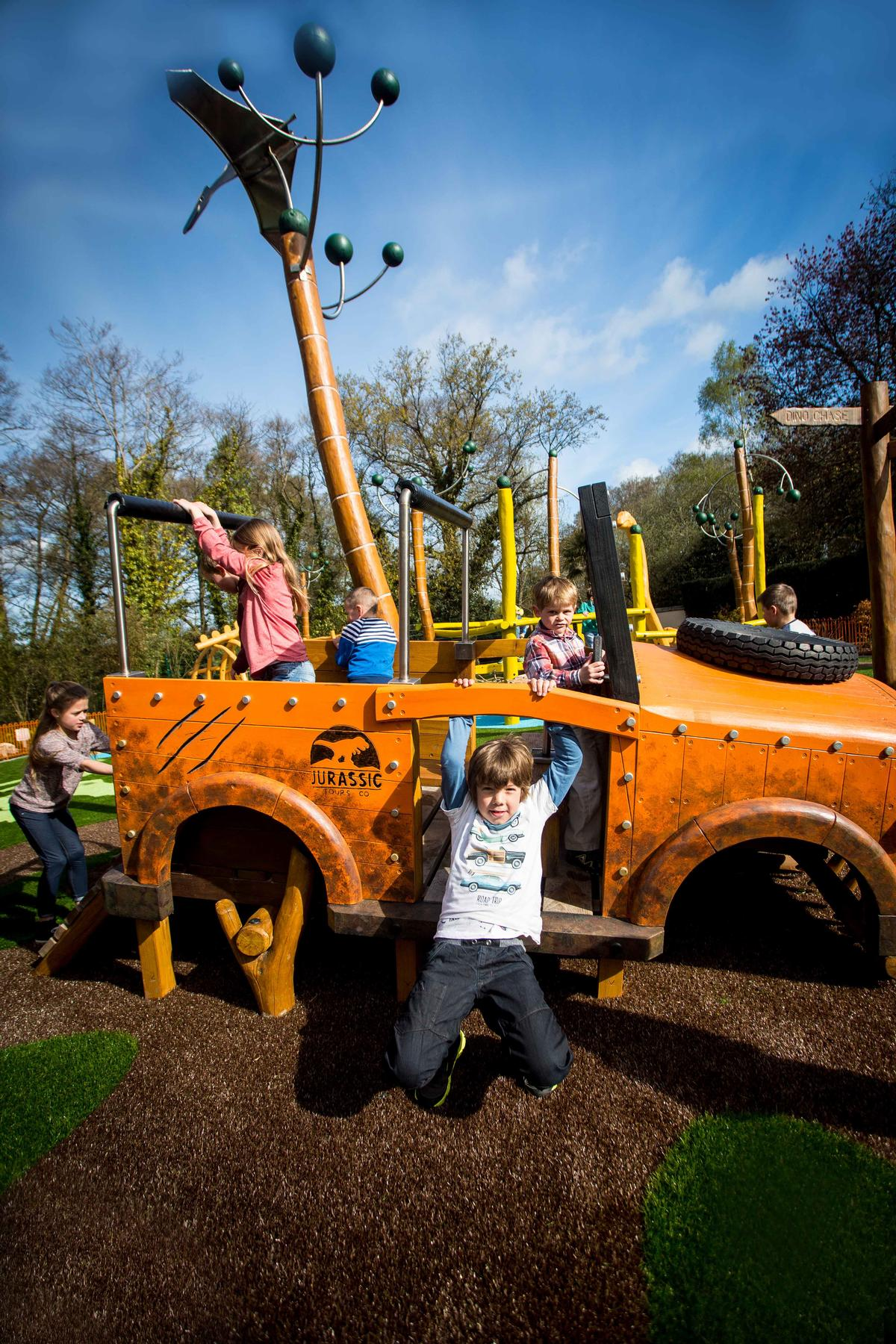 Dig for fossils in the Little Explorers adventure play area