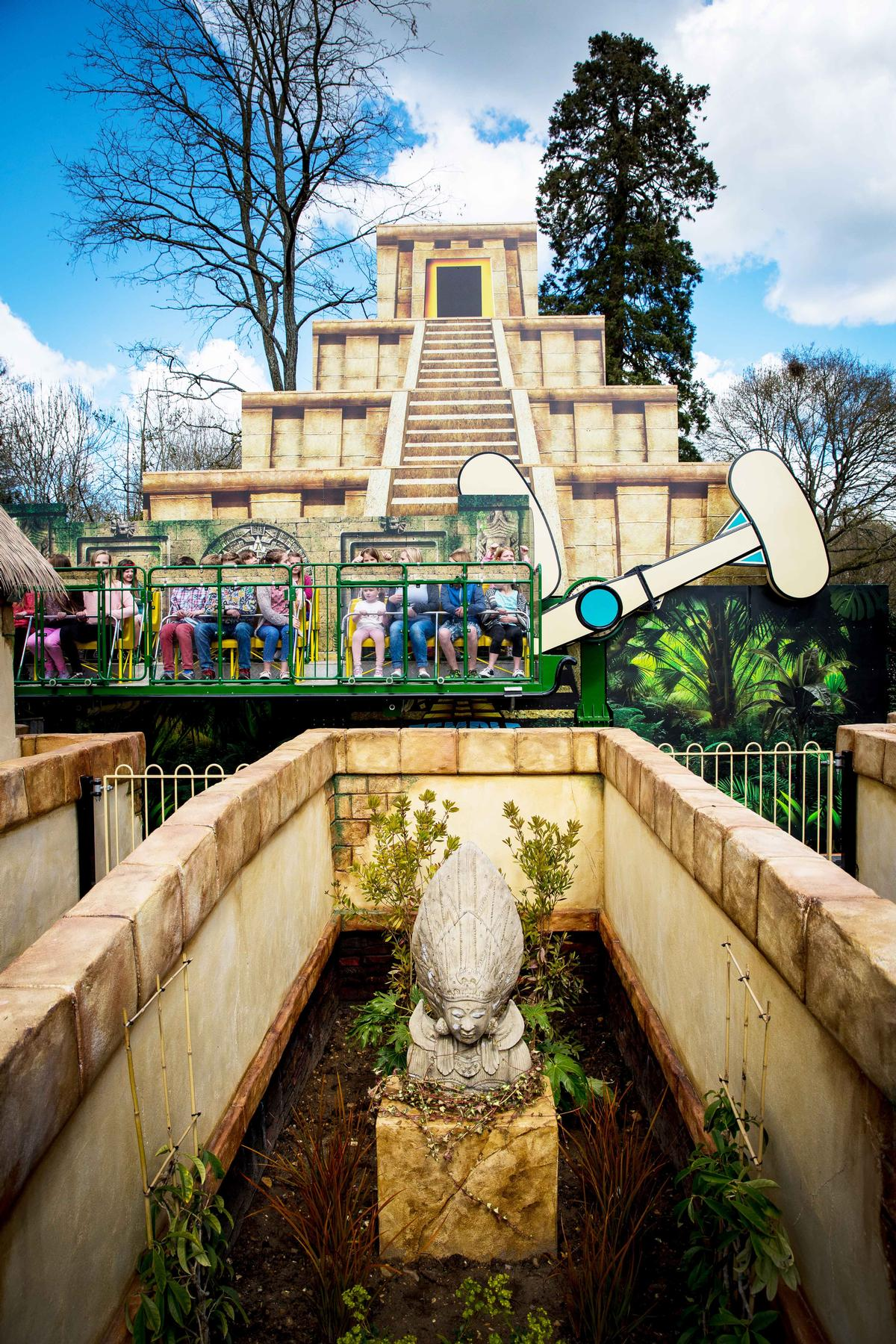 Zamperla designed the Temple Heights attraction