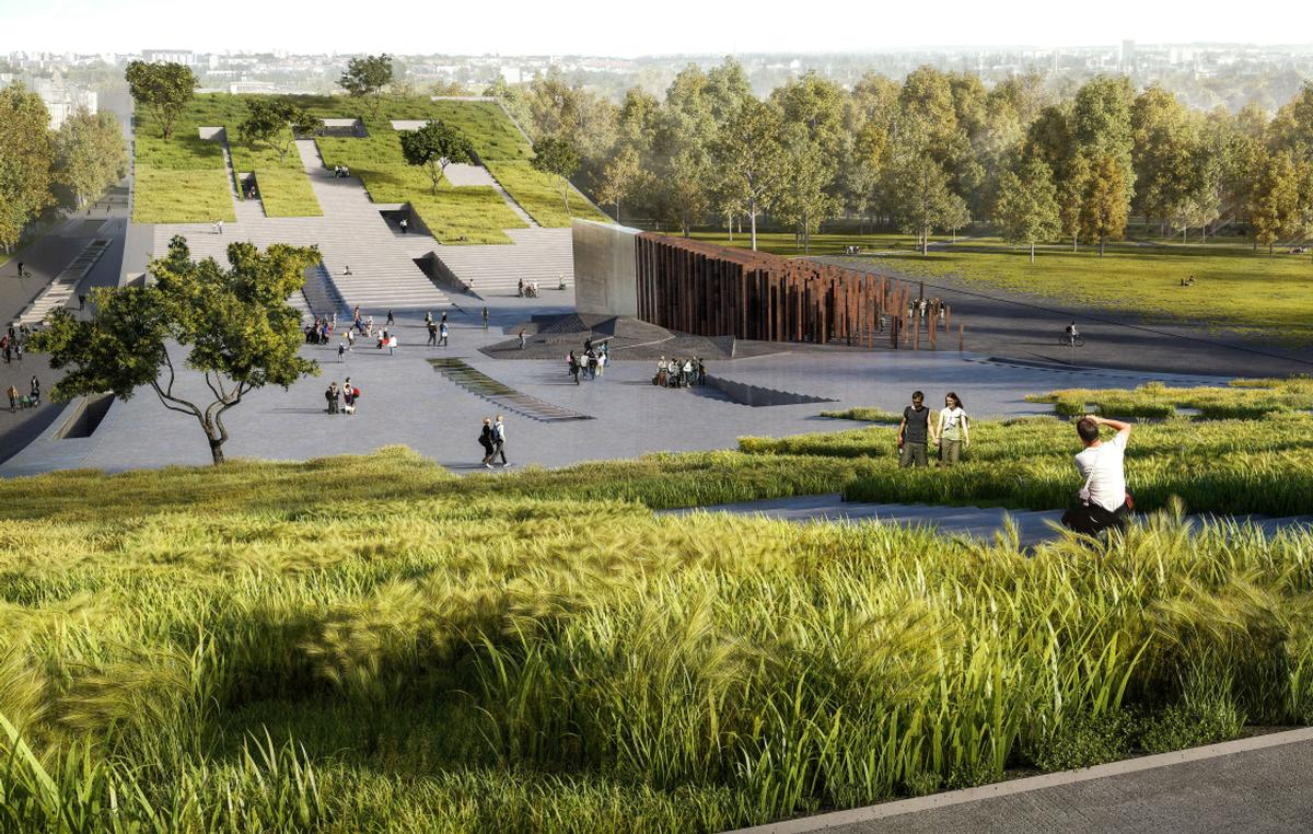 The museum will feature greenery of its rooftop and will be surrounded by landscaped grounds / Museum of Ethnography/Axion Visual