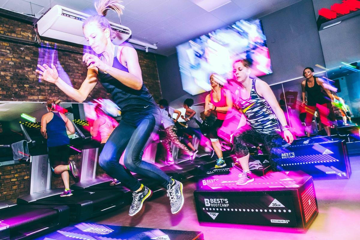 The range of 50-minute classes are soundtracked by Best's resident DJs