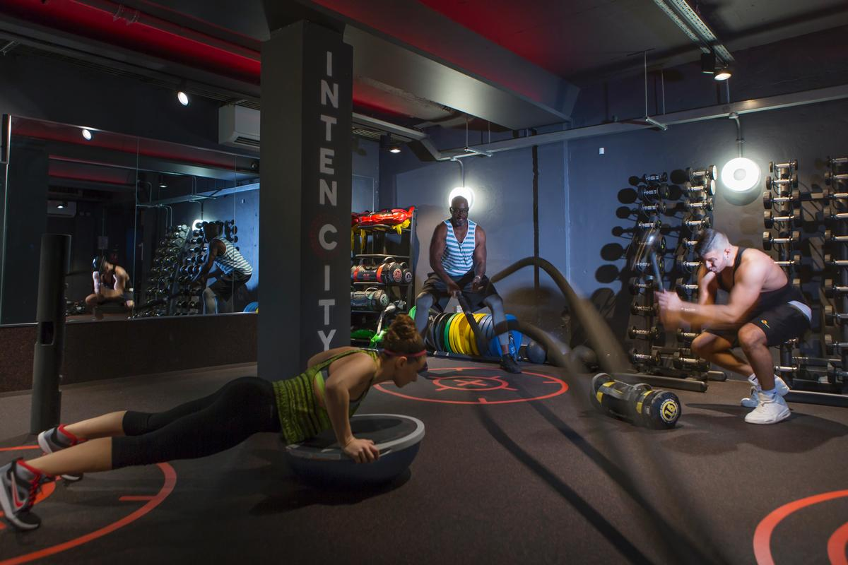 The Intencity boutique studio sits below Southgate Leisure Centre and offers five different types of 30-45 minute HIIT classes