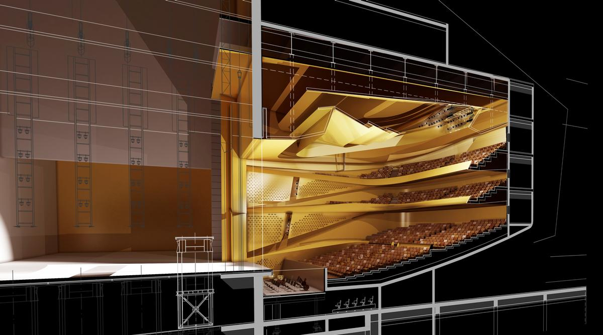 The opera hall will have a capacity for 1,600 people / GMP