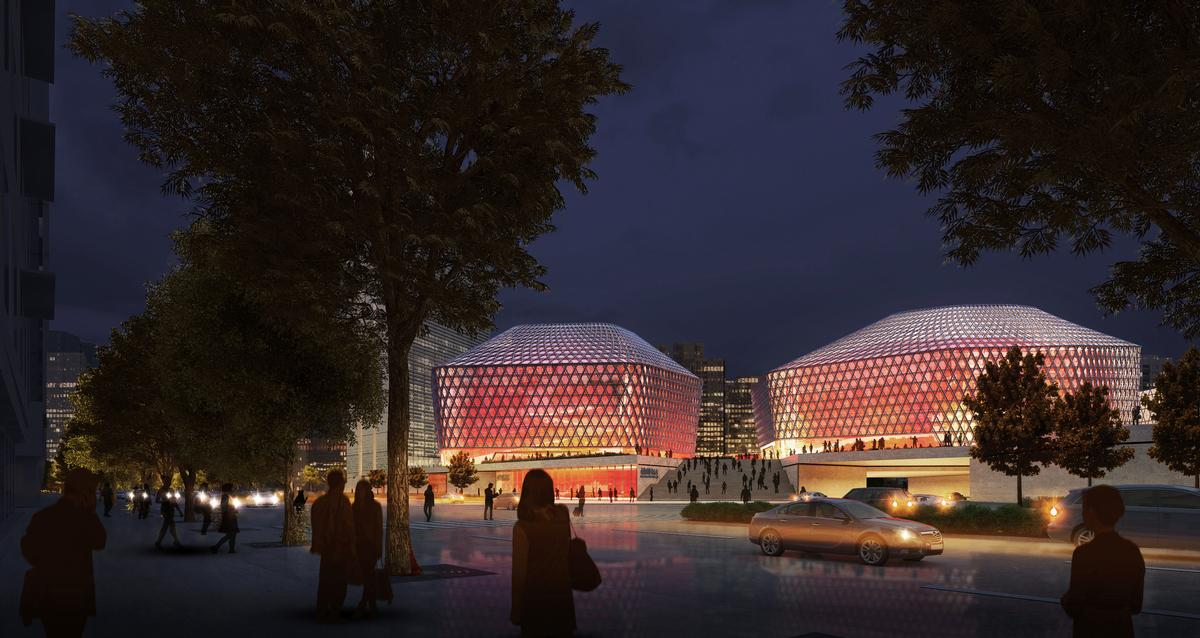 GMP will use colour, material and layout to fill the Urban Concert Hall with local motifs and references / GMP