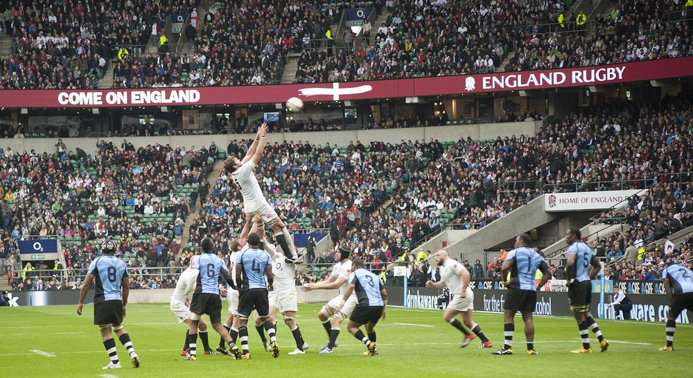 Twickenham, the home of rugby, is one of a number of stadiums to have installed a hybrid playing surface to aid with pitch care