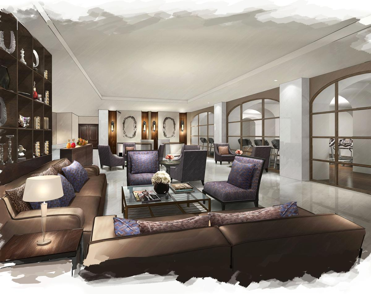 The lobby and guestrooms of the Grand Hotel, Villa Silvana and Chalet Belmont will also be remodeled