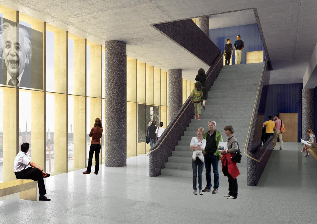 Exhibitions will be held across four levels in the Center / David Chipperfield Architects