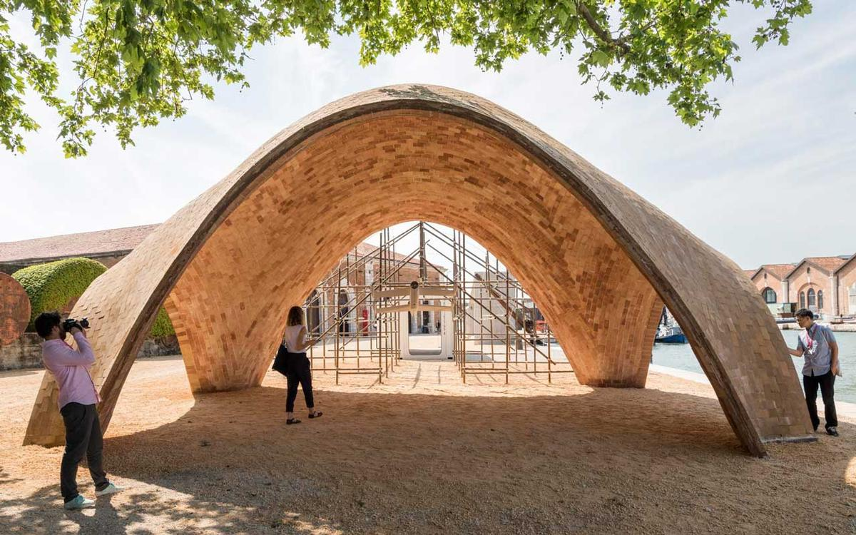 Launching the project at the Venice Architecture Biennale, Foster described the structure as a 'high tech mud building' / Foster + Partners