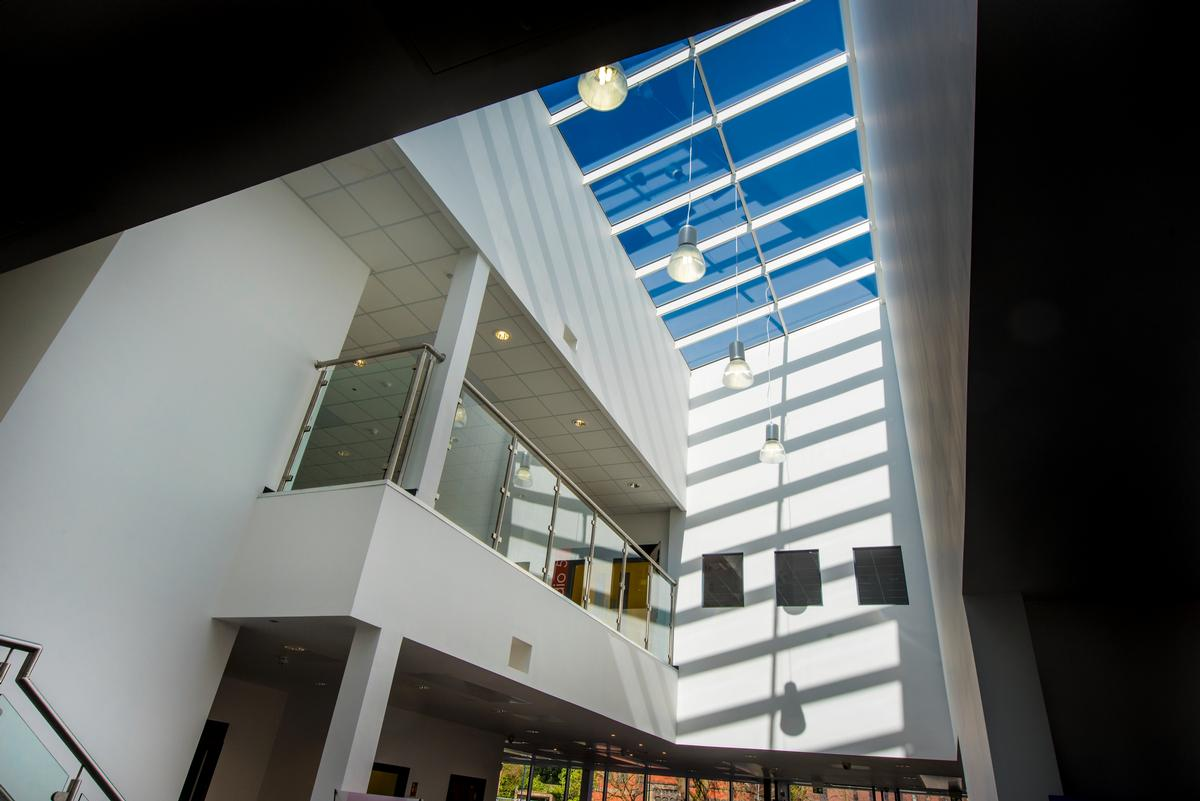 The 7,800sq m (83,959sq ft) two-storey building brings together a range of different services under one roof