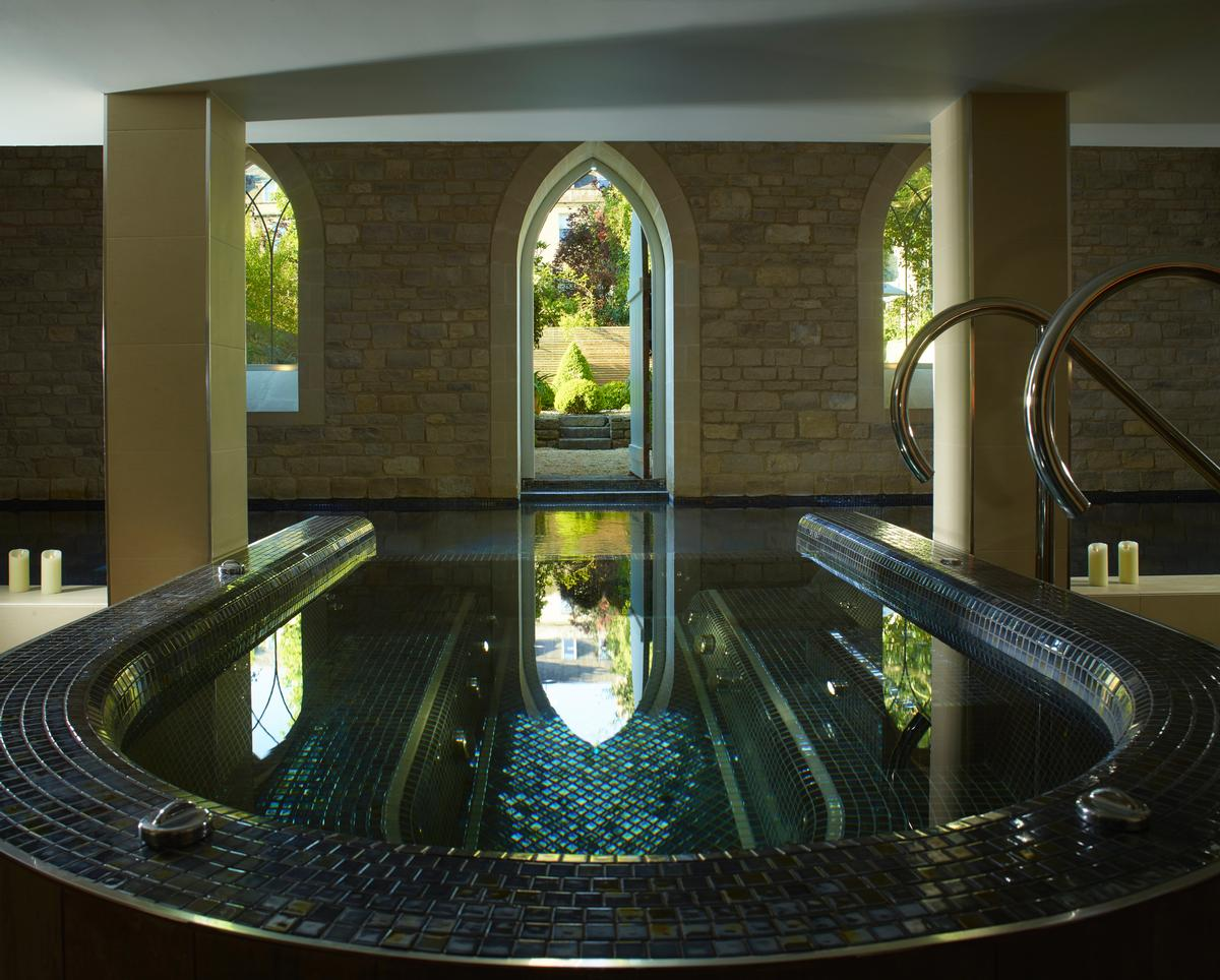 Mark Green of Curveline Design was responsible for the light-filled,  calming design / Royal Crescent Hotel and Spa
