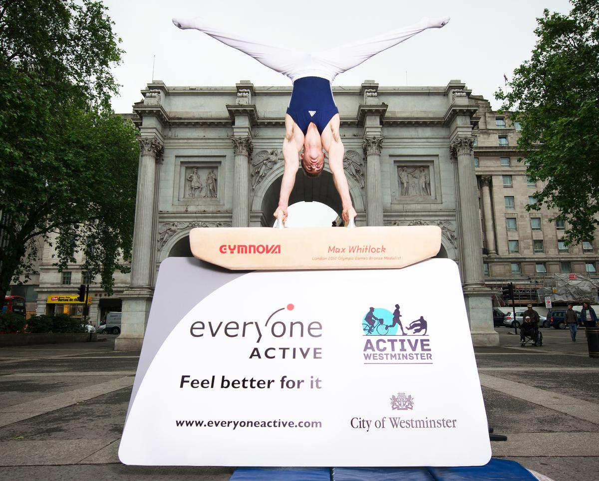 Gymnast Max Whitlock was on-hand to mark the partnership between Everyone Active and Westminster City Council last year