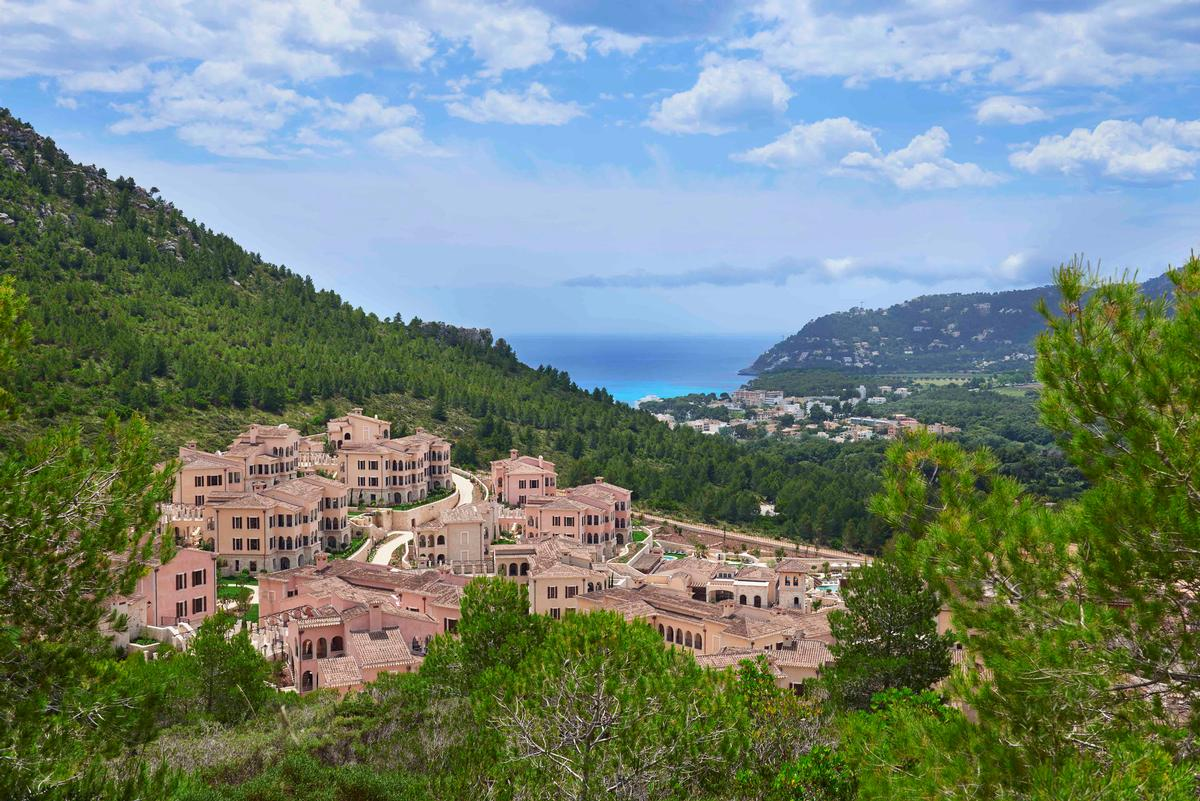 The Spanish property, which is located across five hectares in the Cap Vermell Estate, is designed in the style of an authentic Mallorquín hillside village / AECOM