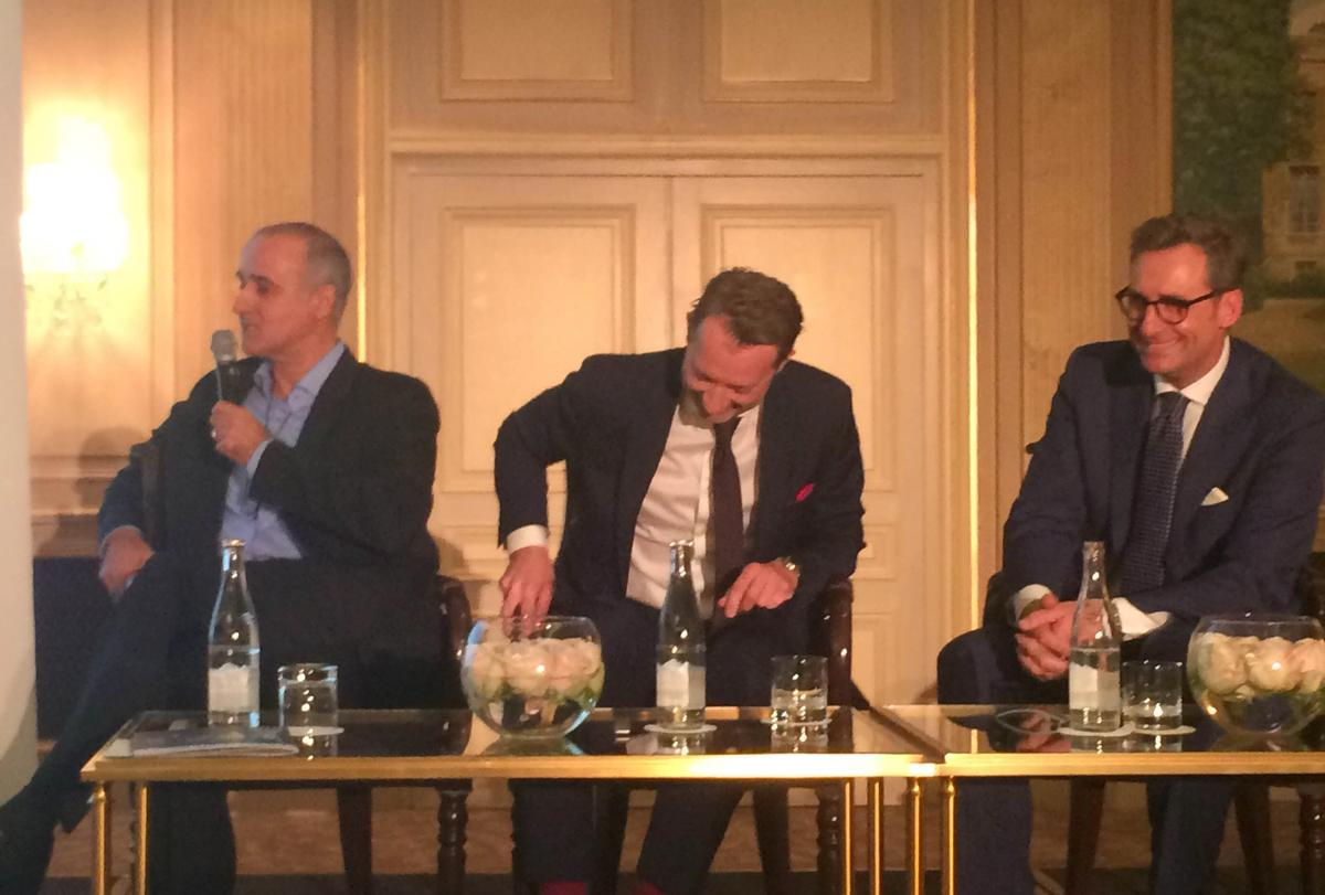 Ingo Schweder, CEO of GOCO Hospitality; Roger Allen, co-founder of Resources for Leisure Assets; and Dr Franz Linser, owner and managing director of Linser Hospitality, take part in a lively roundtable discussion at the Forum Hotel & Spa in Paris