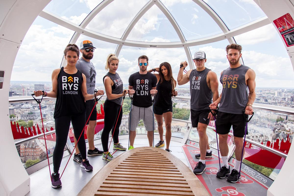 The 45-minute London Eye classes will be taught by a team of expert trainers from the Barry's London studios