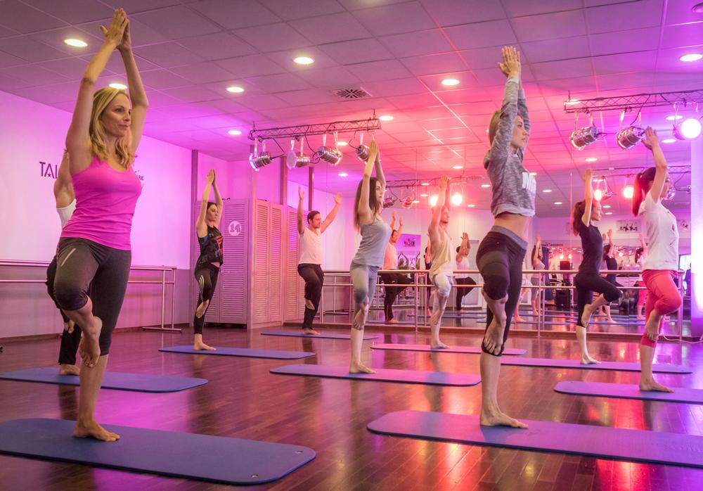 The health club at Europa-Park features a range of group exercise options