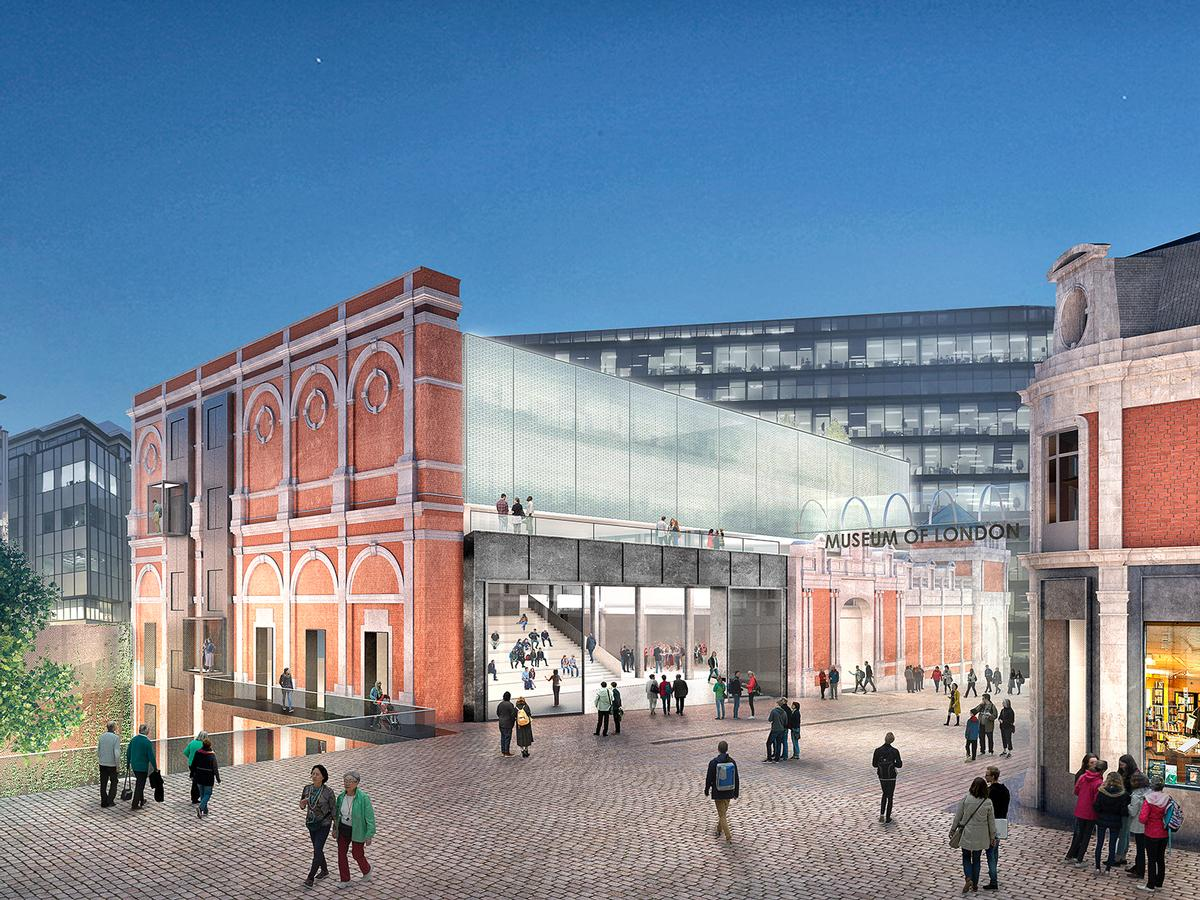 Museum of London concept by Stanton Williams / Images copyright Malcolm Reading Consultants / Stanton Williams