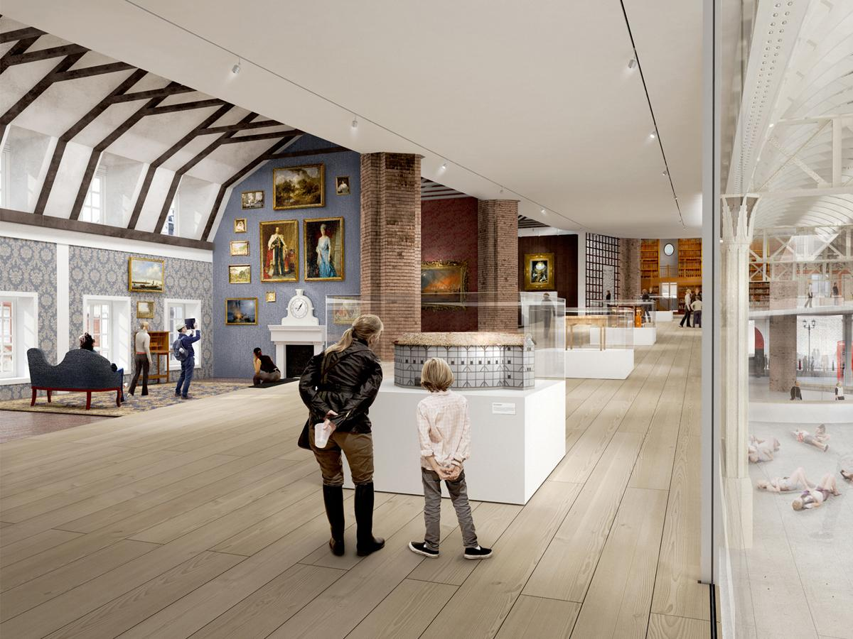 Museum of London concept by BIG / Images copyright Malcolm Reading Consultants / BIG