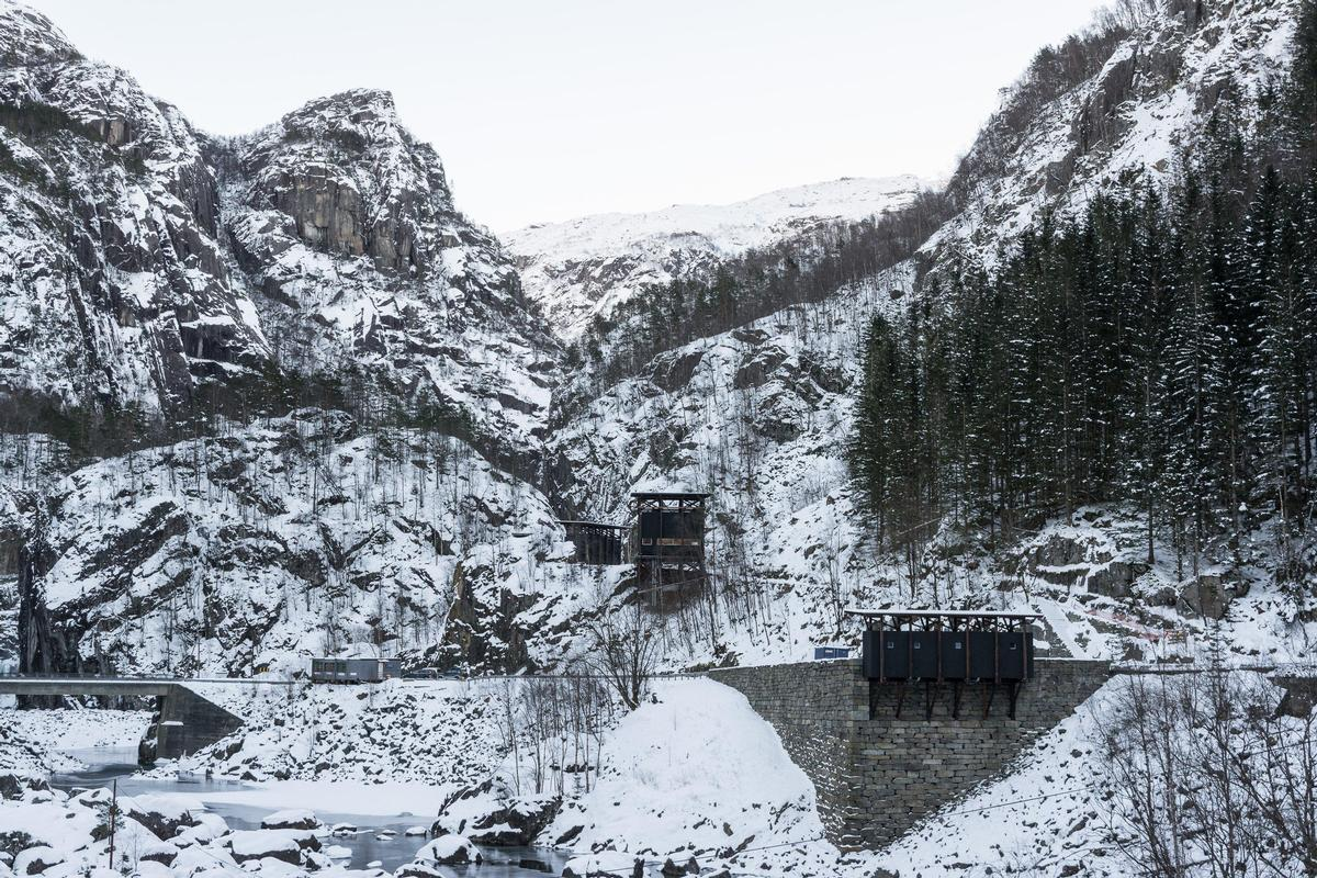 The new installation at the old zinc mines in Sauda has been designed by architect Peter Zumthor / Per Berntsen