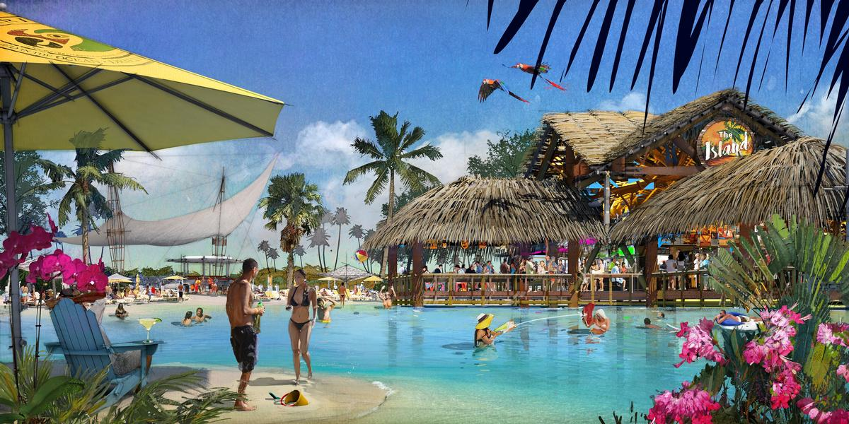 A three-acre swimmable freshwater lagoon will be used for paddle-boarding, snorkelling and watersports