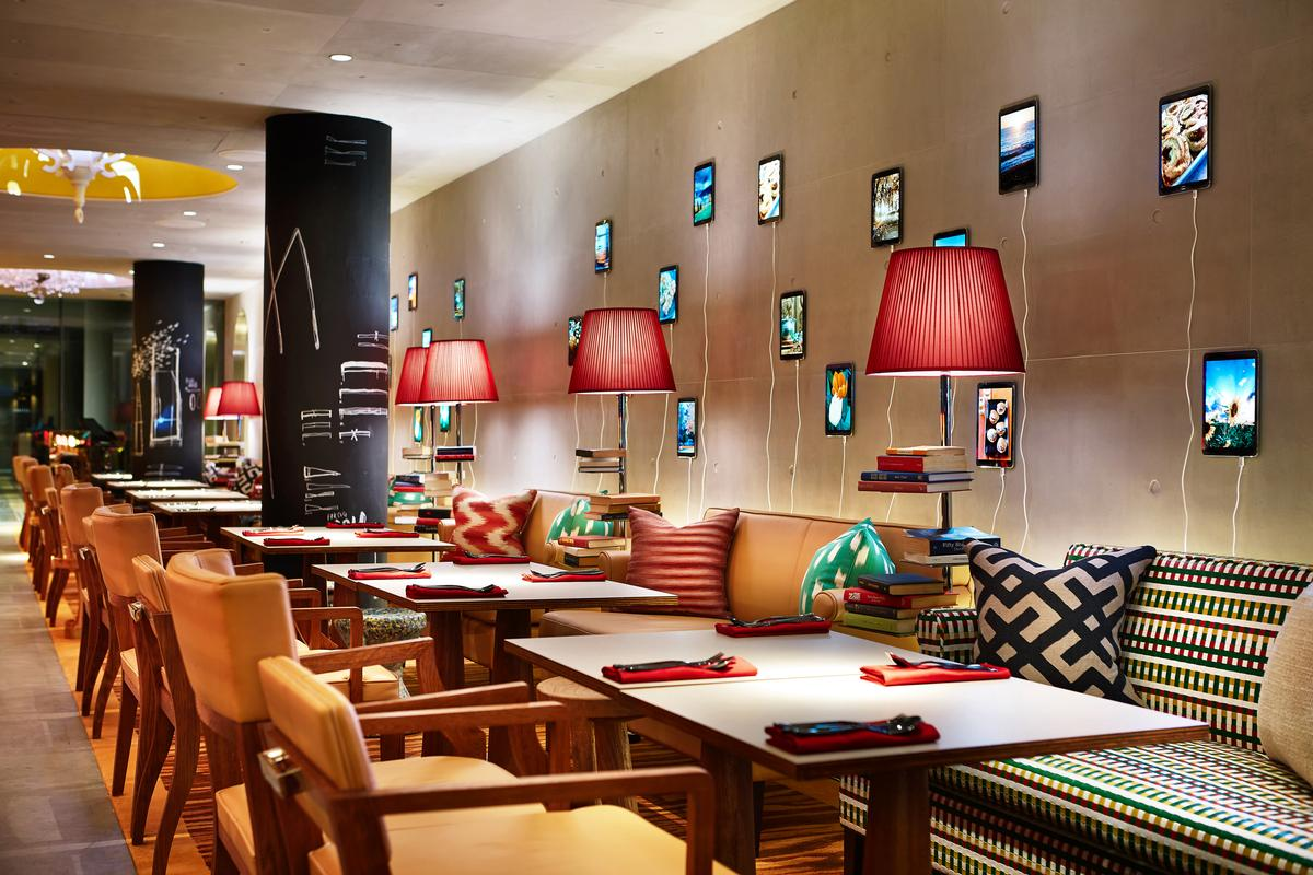 Complementary smartphones and tablets can be used throughout the hotel and taken out into the city / M Social Singapore