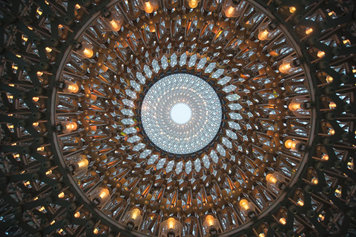 The pavilion features over 1,000 LED lights which change in intensity / Jeff Eden, RBG Kew