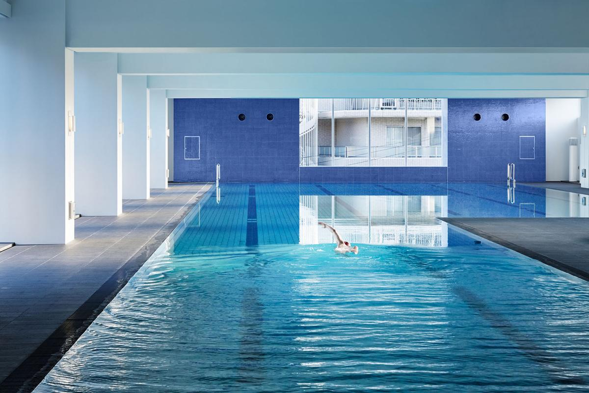 Aqua Spa features the only private 50-metre swimming pool in greater Tokyo  / Kei Takashima