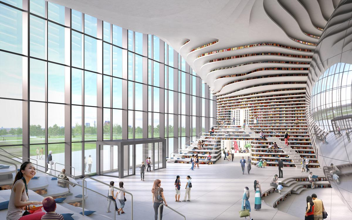 The library is expected to open in mid-2017 / MVRDV