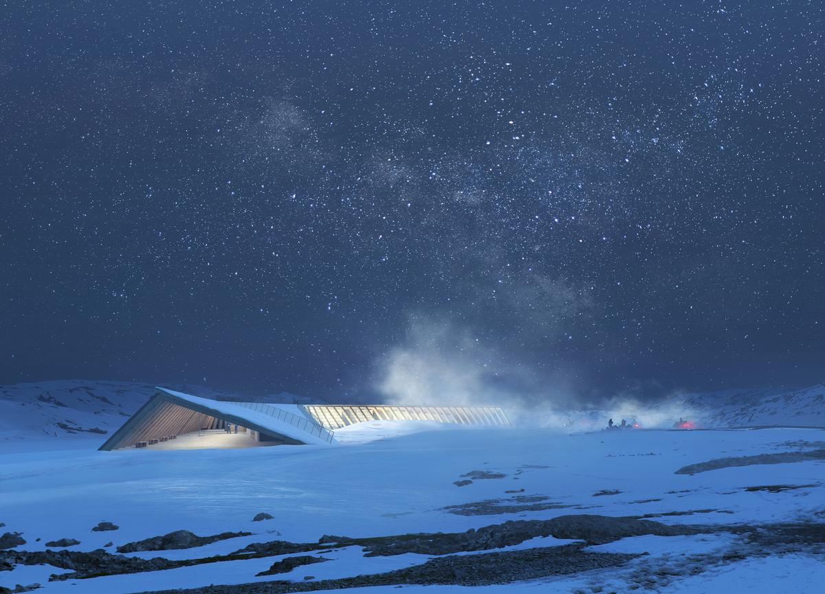 The centre's rooftop will be used as a walkway, a gathering point and a viewing platform / MIR