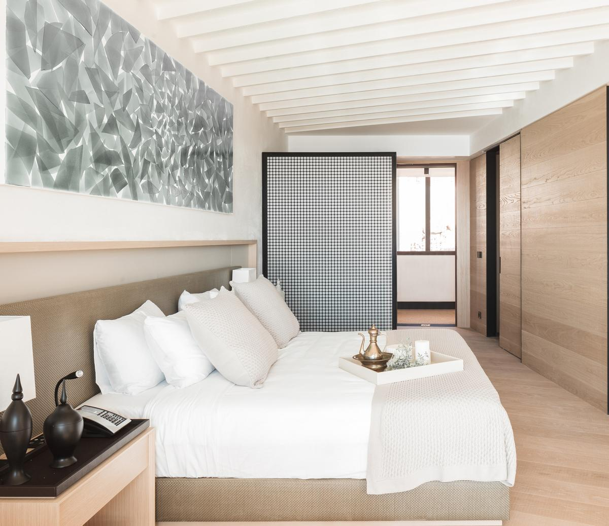Designed by Barcelona-based OAB architects, the 141-bedroom Canyon Ranch Kaplankaya is constructed with environmentally-conscious materials and finished to complement the surrounding scenery