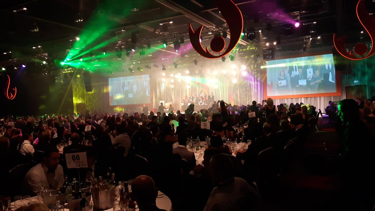 The glitzy awards ceremony saw roughly 850 industry representatives in attendance