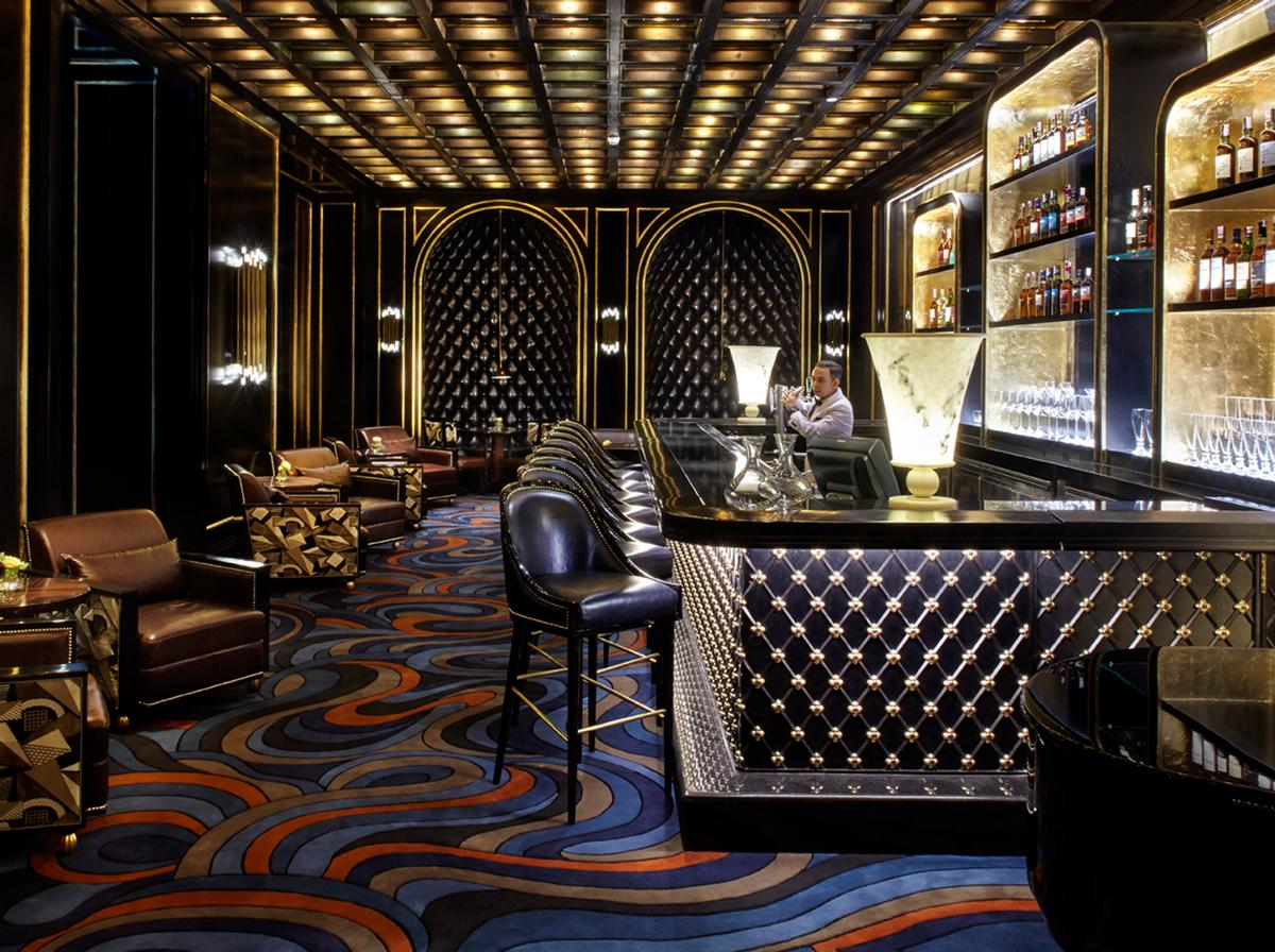 The hotel also includes several dining options, including the Nautilus Bar
